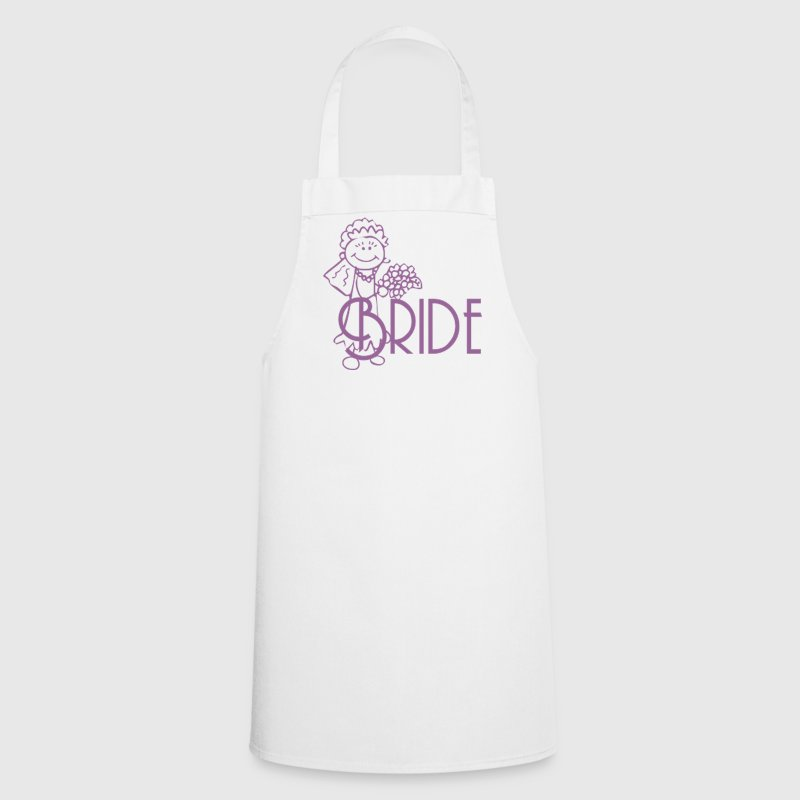 White Bride  Aprons - Cooking Apron