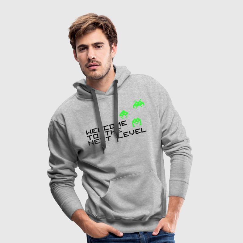 Welcome to the next level Pullover & Hoodies - Männer Premium Hoodie
