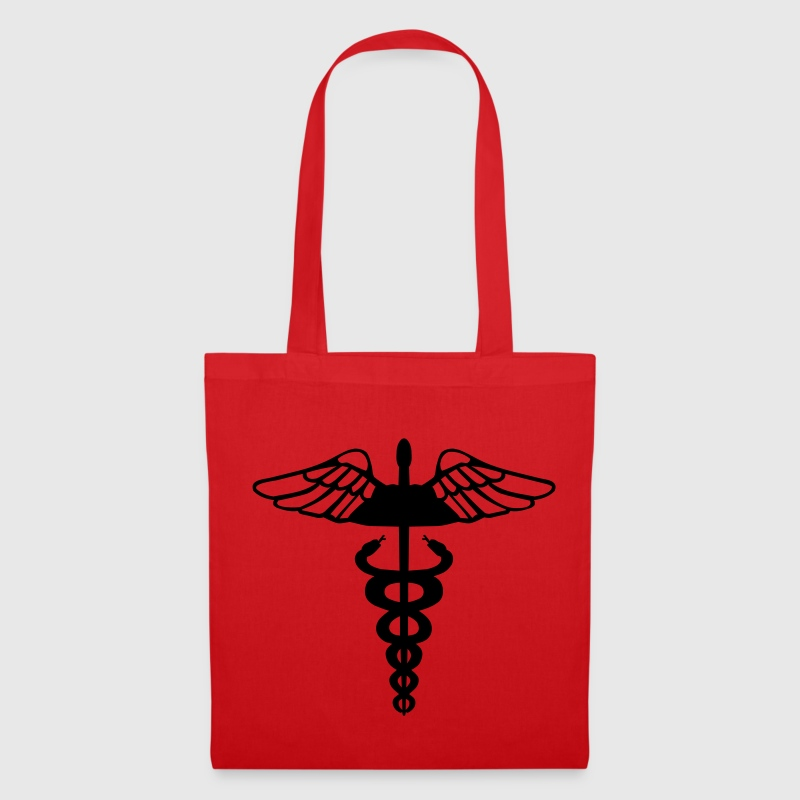 Red Caduceus - Medical Symbol Bags  - Tote Bag