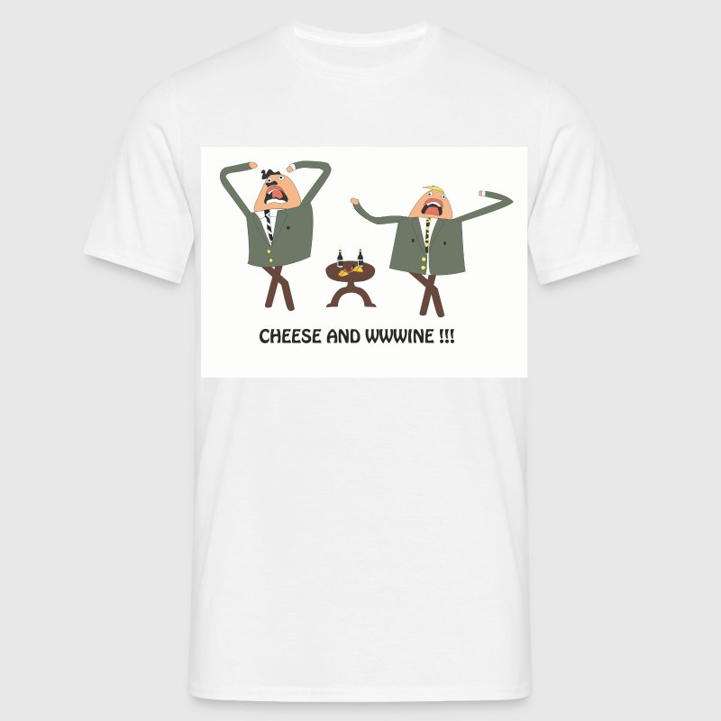 White cheese and wine Men's Tees - Men's T-Shirt