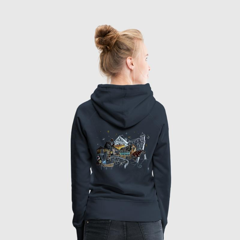 Venice Old Church - Night Prayer - Women's Premium Hoodie