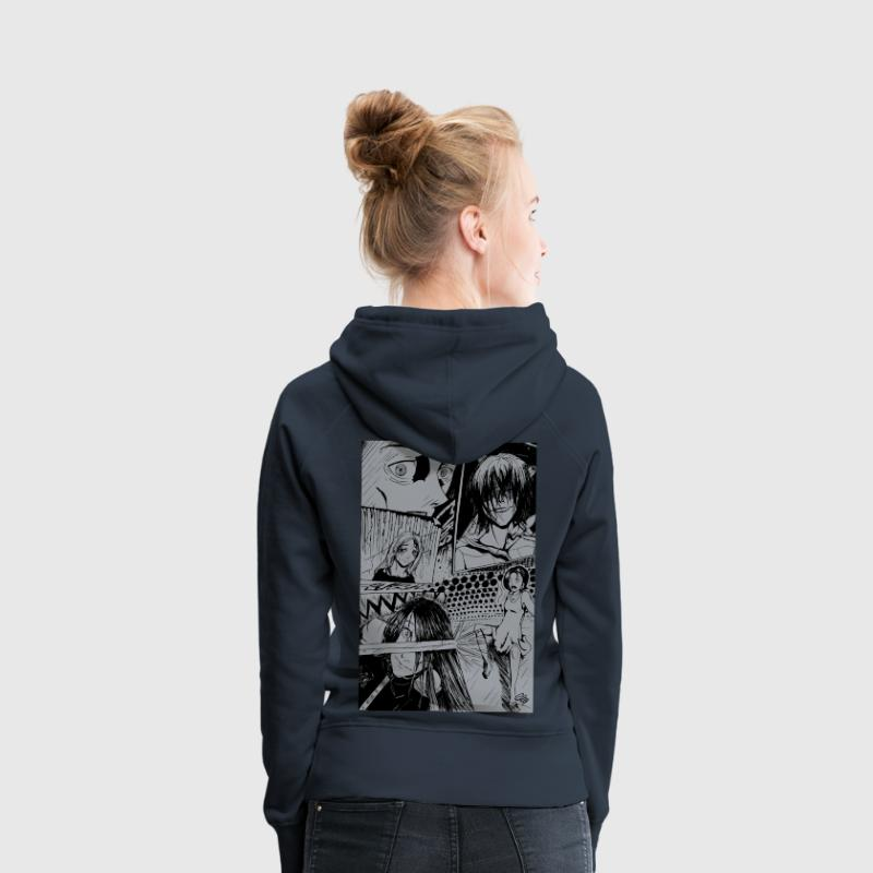 Manga Sweat-shirts - Sweat-shirt à capuche Premium pour femmes
