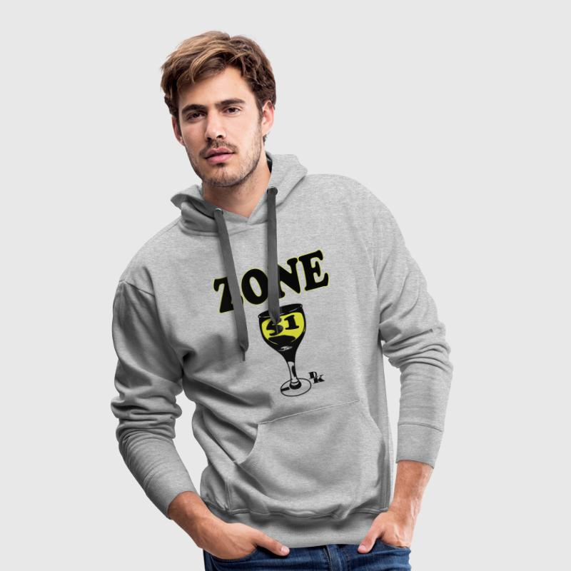 zone 51 vect by dk Sweat-shirts - Sweat-shirt à capuche Premium pour hommes