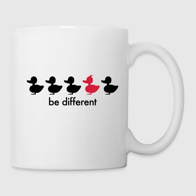 be different Ente Entchen Irokese Schnabel Punk Slogan Duck individuell Spruch einzigartig watscheln Schnabeltier Flaschen & Tassen - Tasse