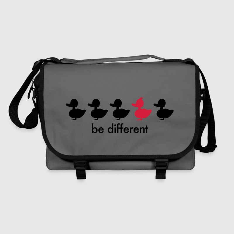 be different Ente Entchen Irokese Schnabel Punk Slogan Duck individuell Spruch einzigartig watscheln Schnabeltier Taschen - Umhängetasche