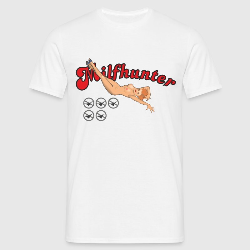 Milf Hunter Pin-up - Männer T-Shirt