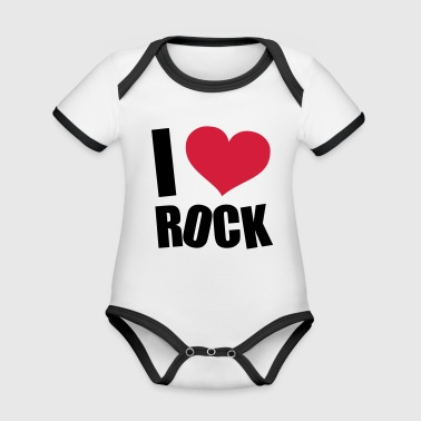 I Love Rock Kids' Shirts - Organic Baby Contrasting Bodysuit