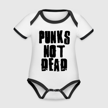Punks Not Dead Kids' Shirts - Organic Baby Contrasting Bodysuit