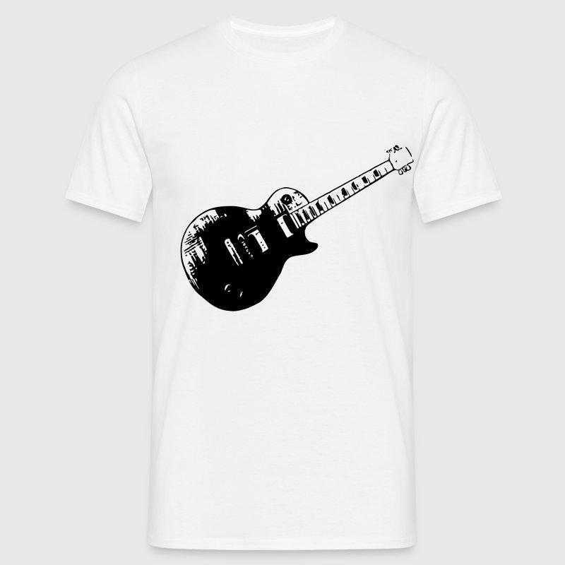 Guitar, electric guitar, Les Paul, rock, metal, punk, gibson, guitar, music, instument T-Shirts - Men's T-Shirt