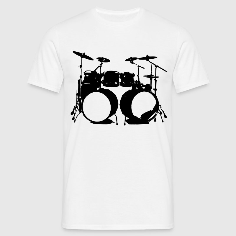 Percussion, drums, drummer, percussionist, music, instrument, double bass, T-Shirts - Men's T-Shirt