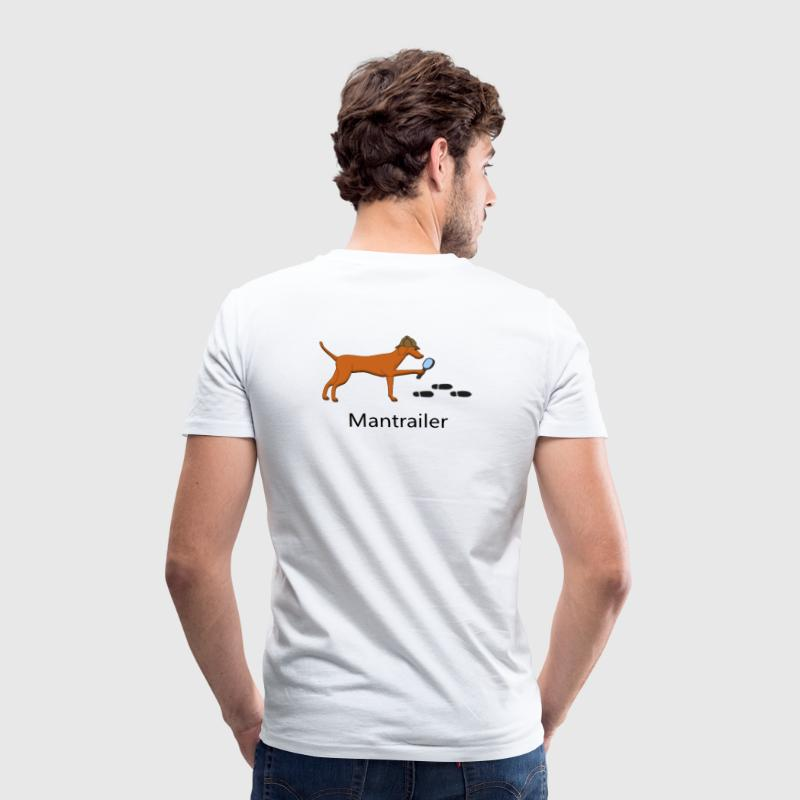 Mantrailing Vizsla T-Shirts - Men's Organic V-Neck T-Shirt by Stanley & Stella