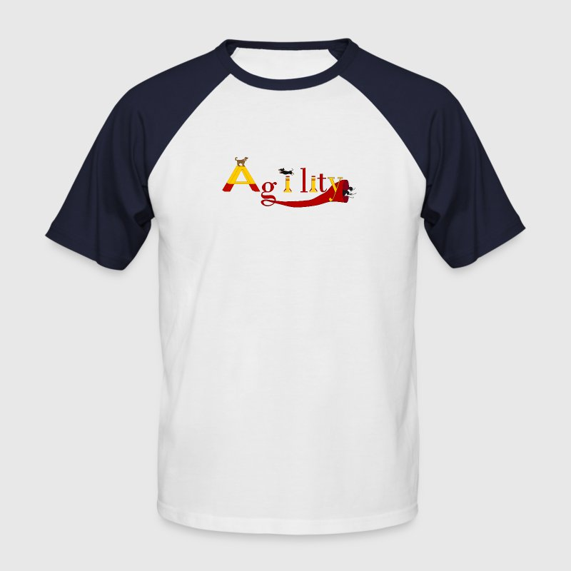 Agility dogs Tee shirts - T-shirt baseball manches courtes Homme