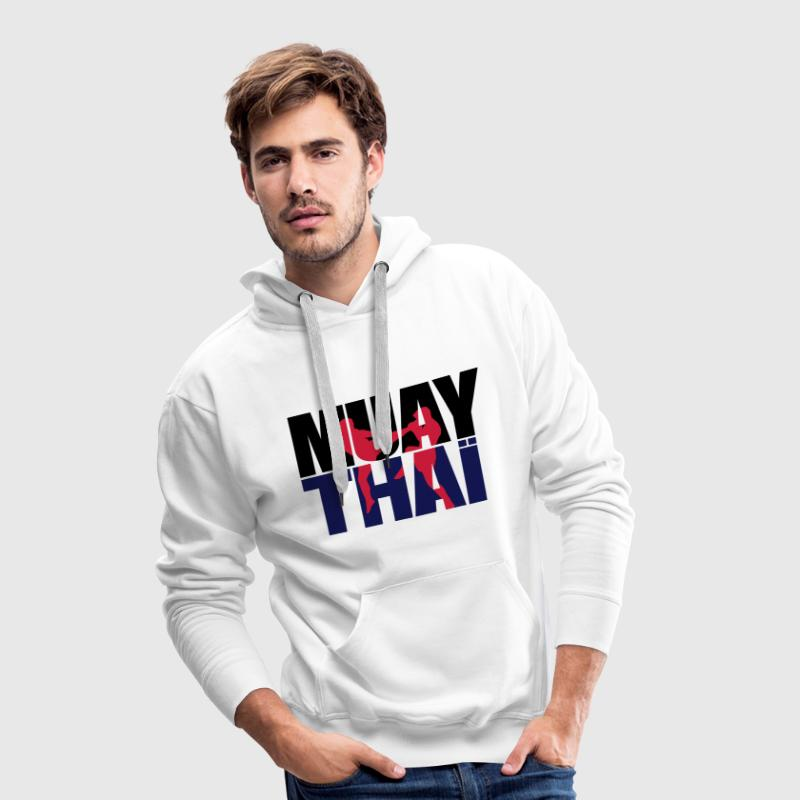 Muay thai logo full Boxe thailandaise Sweat-shirts - Sweat-shirt à capuche Premium pour hommes