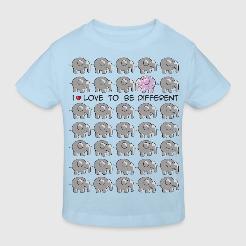 I love to be different - elephant Barn-T-shirts - Ekologisk T-shirt barn