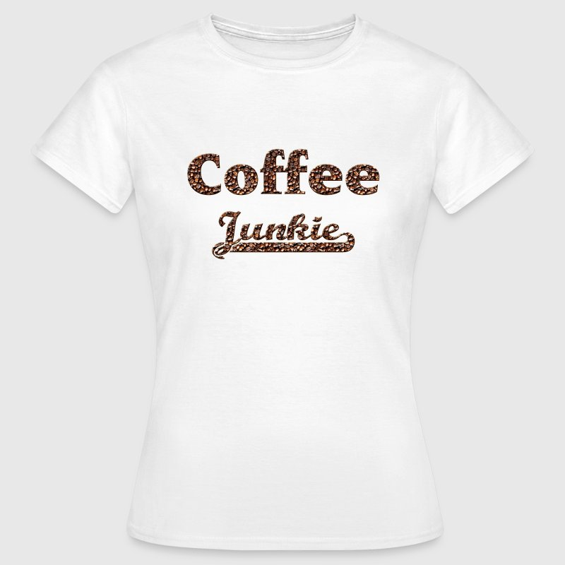 coffee junkie T-shirts - Dame-T-shirt
