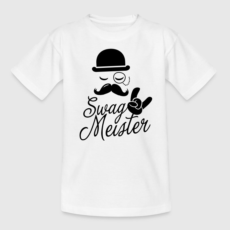Funny Swag Meister with fashionable moustache like a cool sir t-shirts for geek, stag do, mad birthday Kids' Shirts - Teenage T-shirt