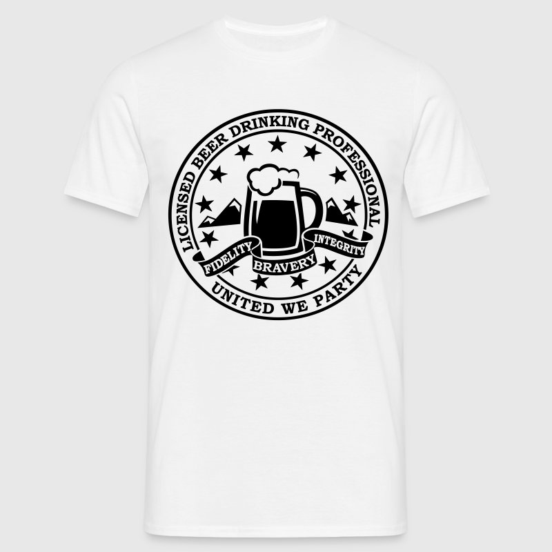 Funny i love beer drinking party and hell raising license badge emblem t-shirts for clubbing stag do partying st patrick T-Shirts - Men's T-Shirt