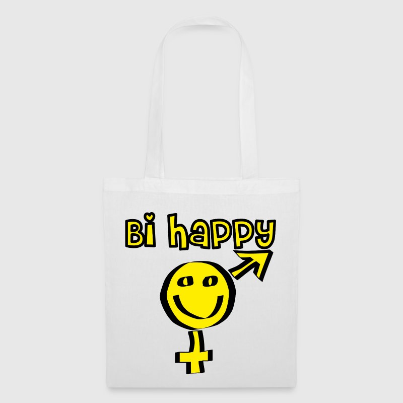 Happy bi bisexual bisex gay bisessuale - Tote Bag