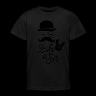 Lustige Like A Sir Meme Sprüche Mit Modischen Schnurrbart Coole T Shirts  Für Geek,
