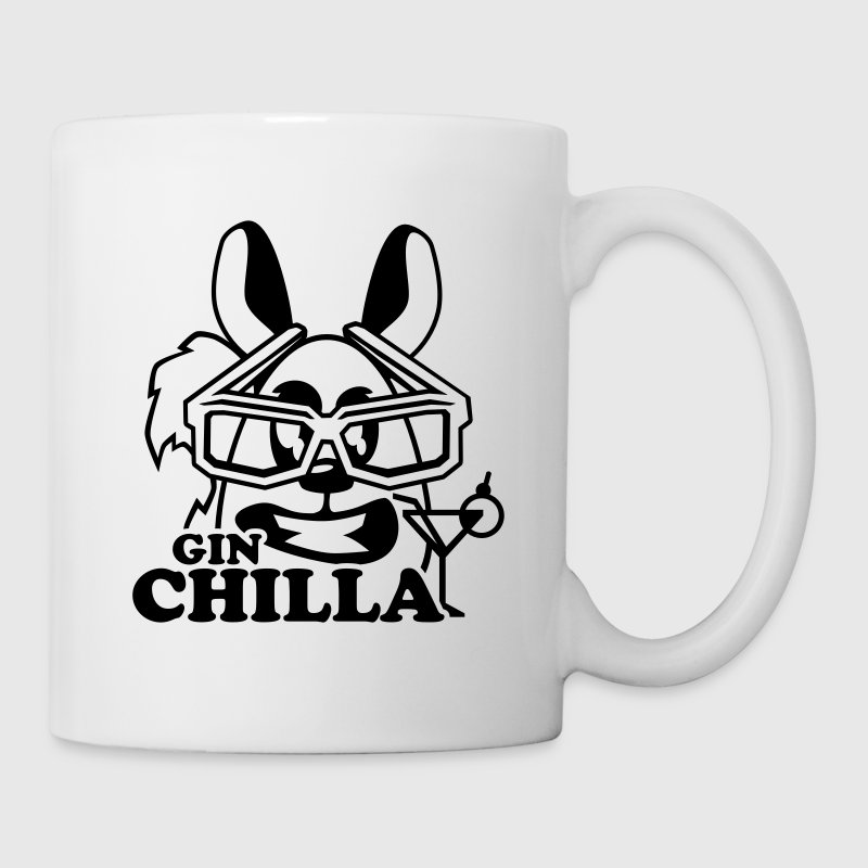 gin chilla chinchilla tier  Flaschen & Tassen - Tasse