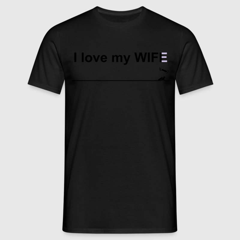 I love my wife wifi - Men's T-Shirt