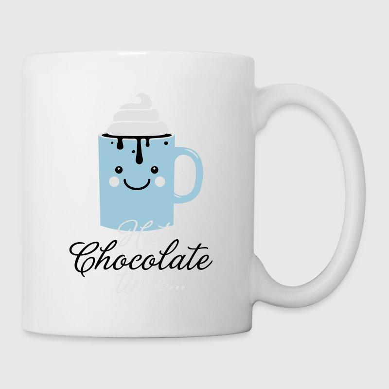 tasse tasse mignon dr le avec i love chocolat chaud avec slogan temps cr me doux dans la neige. Black Bedroom Furniture Sets. Home Design Ideas