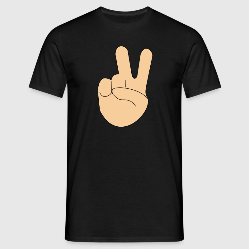 Peace, Victory, Peace, comic, cartoon, hand, fingers T-Shirts - Men's T-Shirt