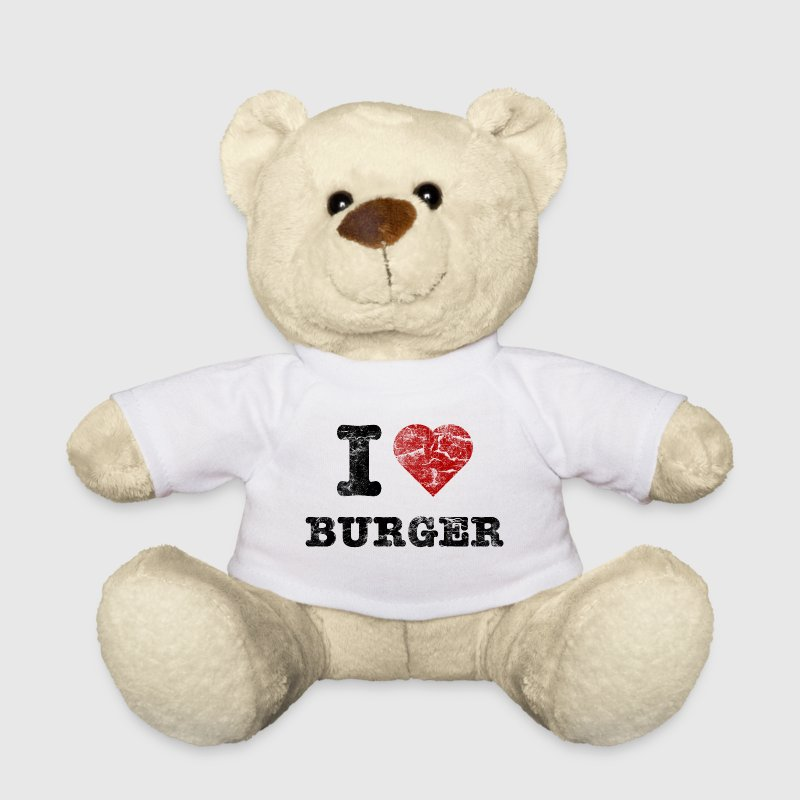 i love burger vintage dark Teddies - Teddy Bear
