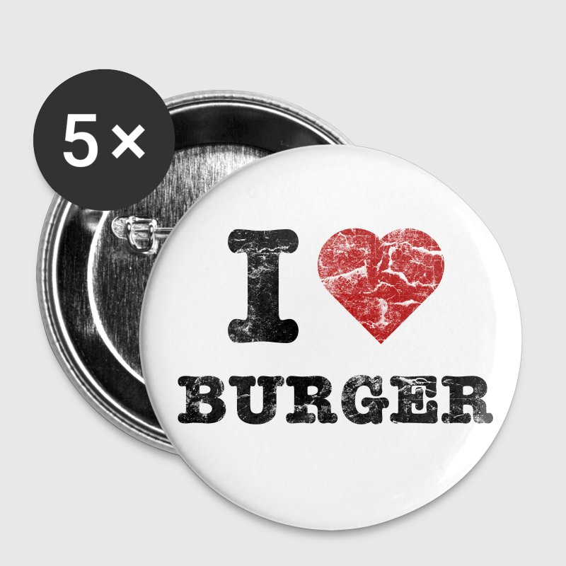 i love burger vintage dark Buttons / Anstecker - Buttons mittel 32 mm