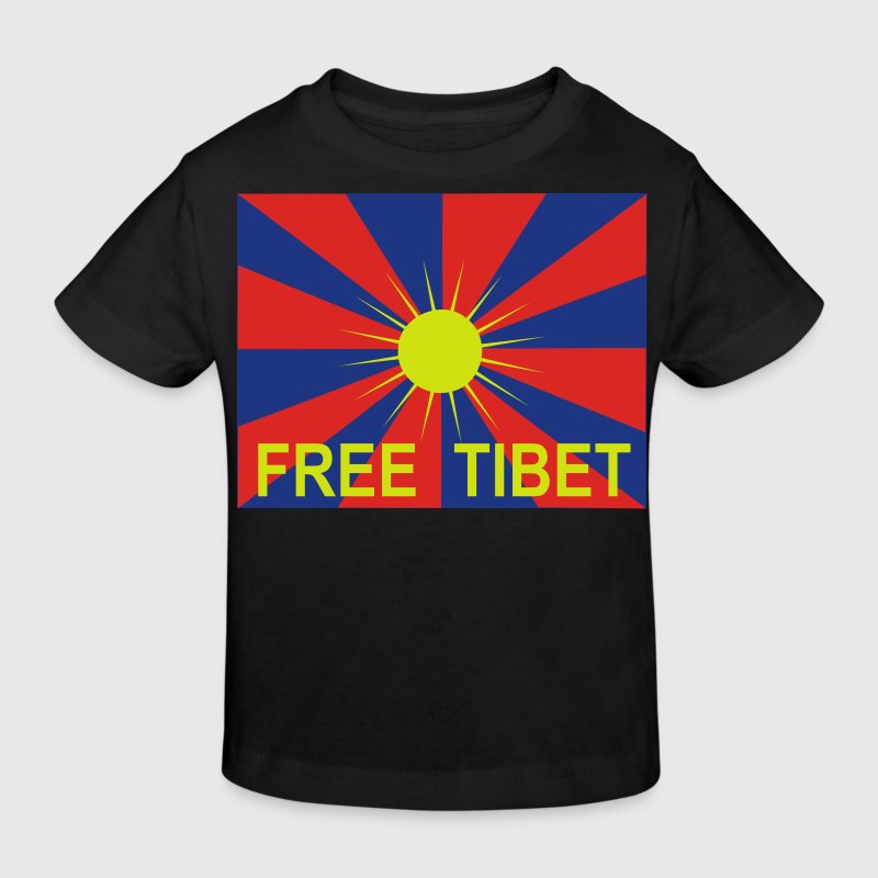 kindershirt free tibet flagge - Kinder Bio-T-Shirt