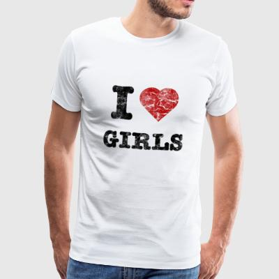 i love girls vintage dark Sweat-shirts - T-shirt Premium Homme