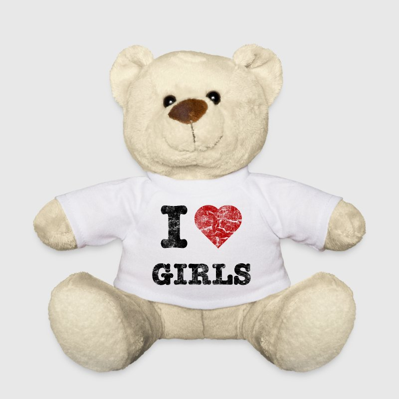 i love girls vintage dark Nounours - Nounours