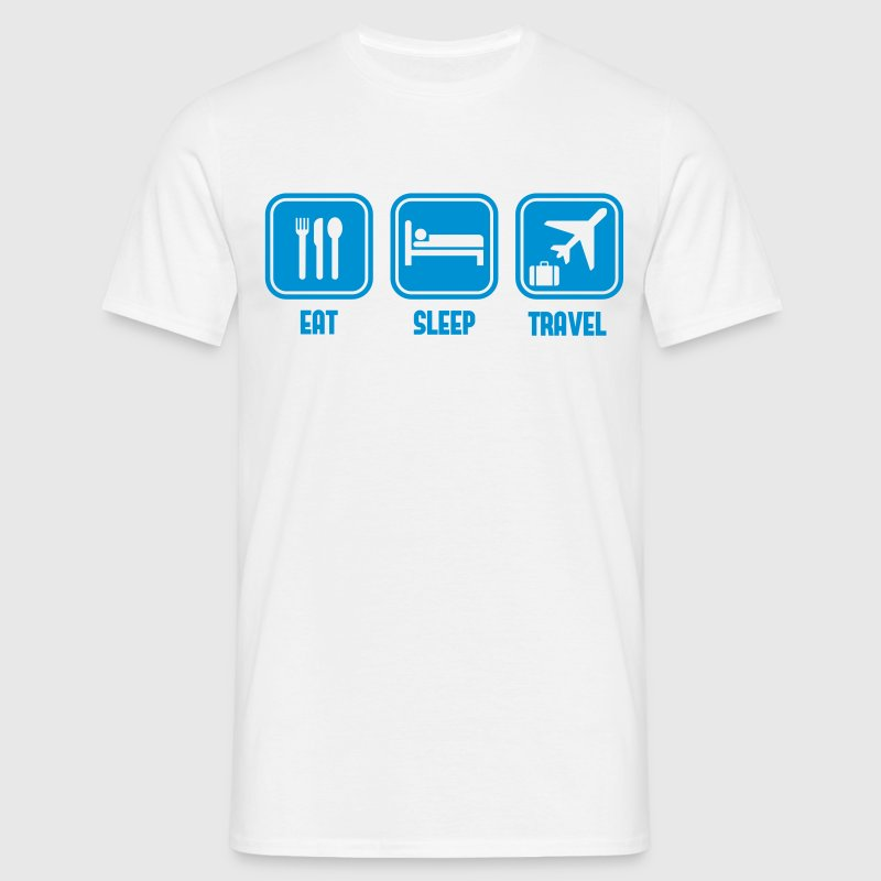 Eat Sleep travel - Men's T-Shirt