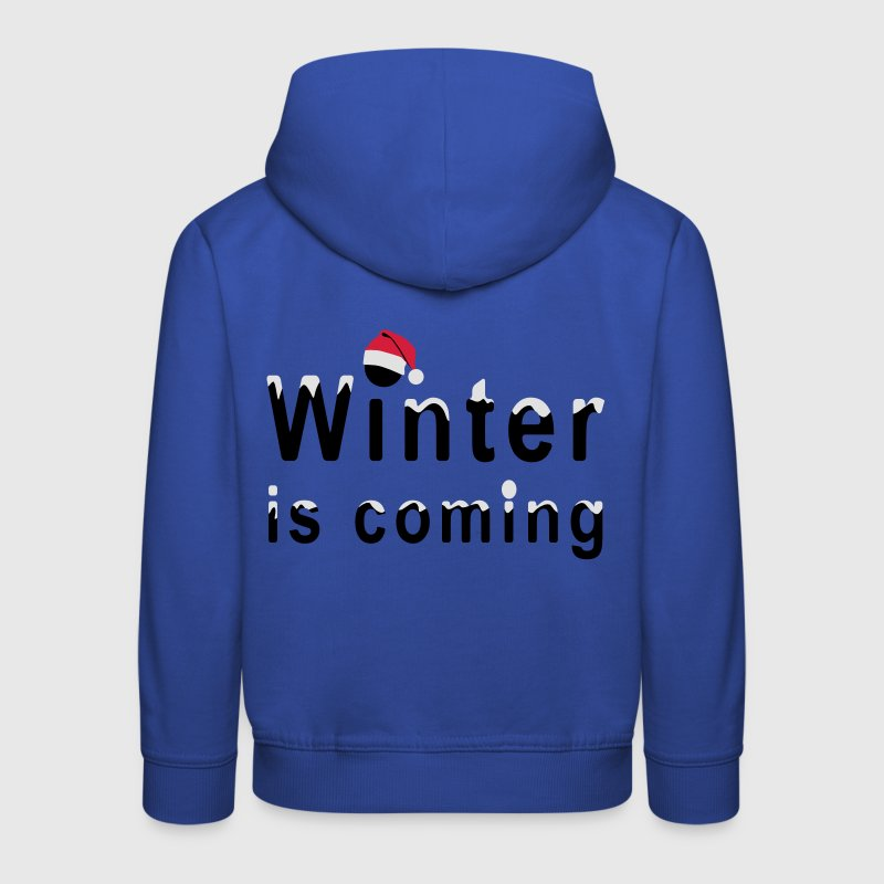 Winter is coming - Pull à capuche Premium Enfant