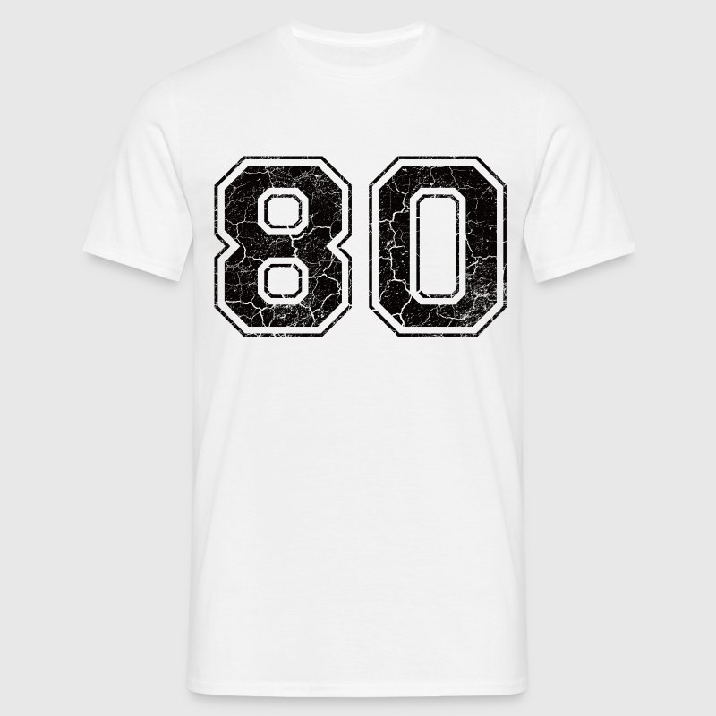 Nummer 80 in de grunge look T-shirts - Mannen T-shirt