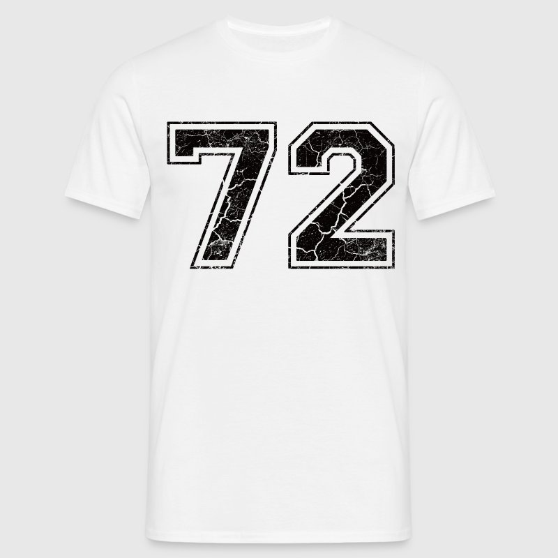 Number 72 in the grunge look T-Shirts - Men's T-Shirt