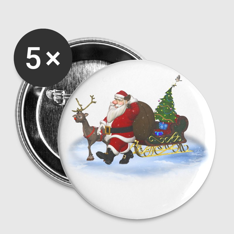 Santa is coming - Buttons mittel 32 mm