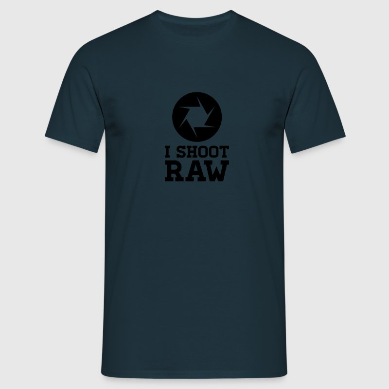 I Shoot RAW - Photography Camisetas - Camiseta hombre