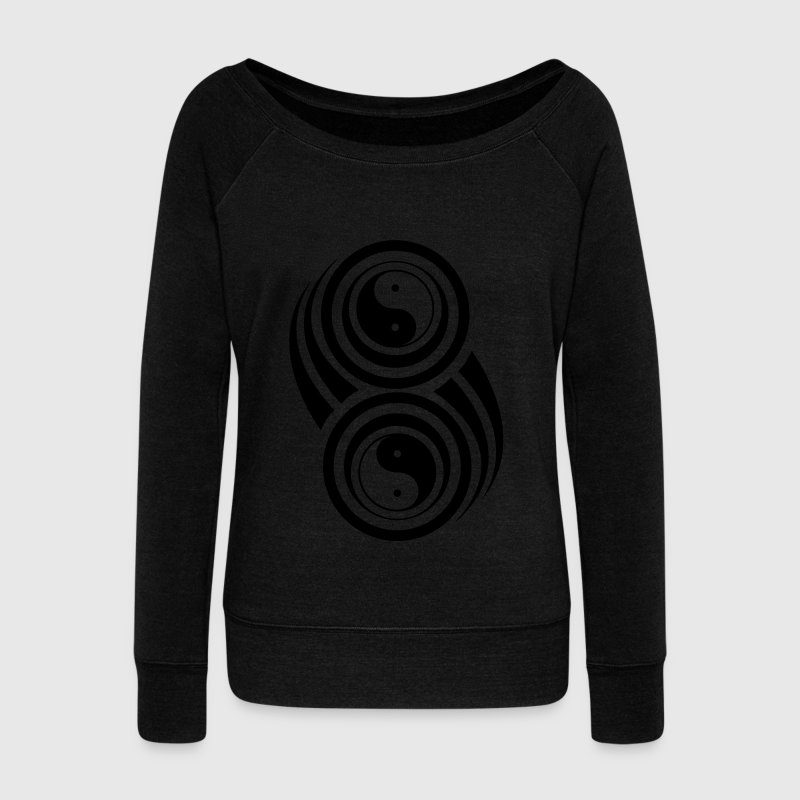 ying yang,yin,yang,tribal,forme,crop,circle Sweat-shirts - Pull Femme col bateau de Bella