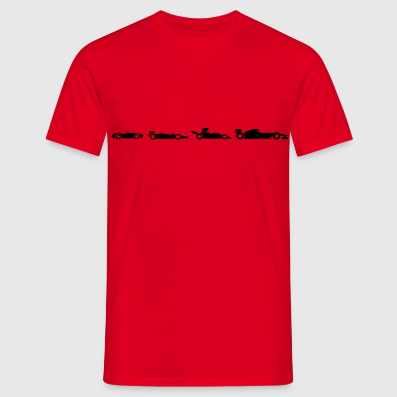 Evolution Formule 1  T-shirts - Mannen T-shirt