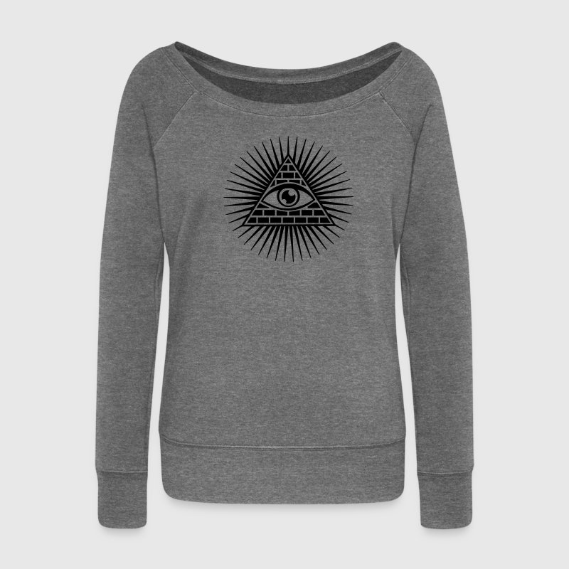 All seeing Eye, Pyramid, Horus, Triangle, Symbols, T-shirts & Hoodies - Women's Boat Neck Long Sleeve Top