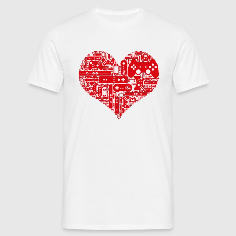 Gamer heart - Männer T-Shirt