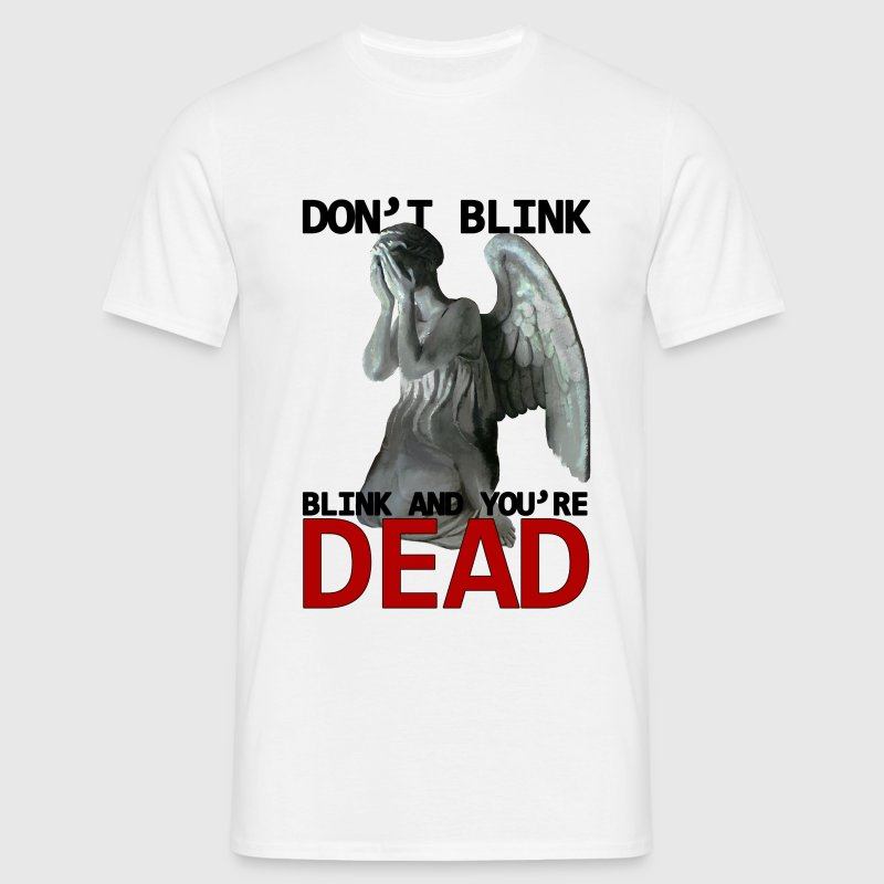 Doctor Who Don't blink Weeping angel statue - Männer T-Shirt