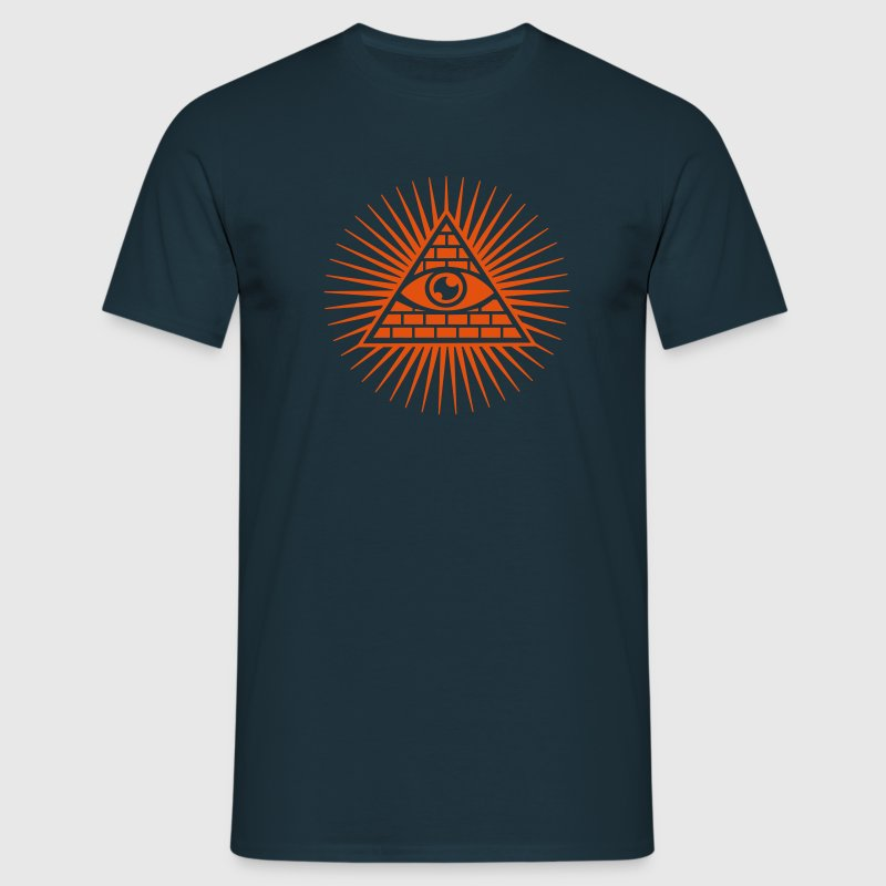 all seeing eye -  eye of god / pyramid - symbol of Omniscience & Supreme Being T-shirts - Mannen T-shirt