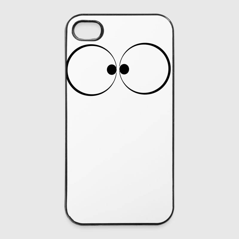 Cartoon ogen - iPhone 4/4s hard case