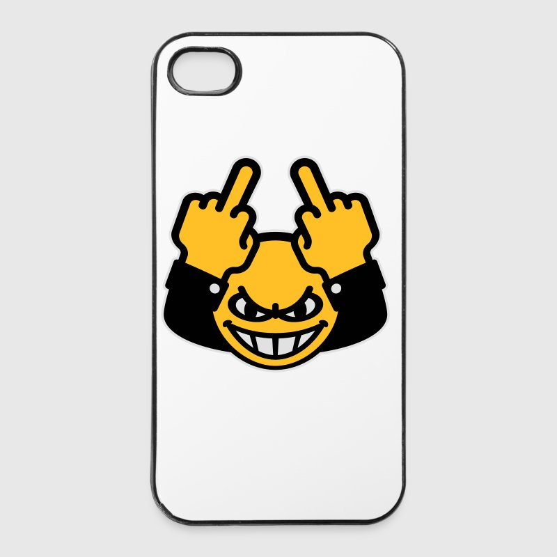 Nasty Emoticon (fuck off / you, 3C) iPhone Case - iPhone 4/4s Hard Case