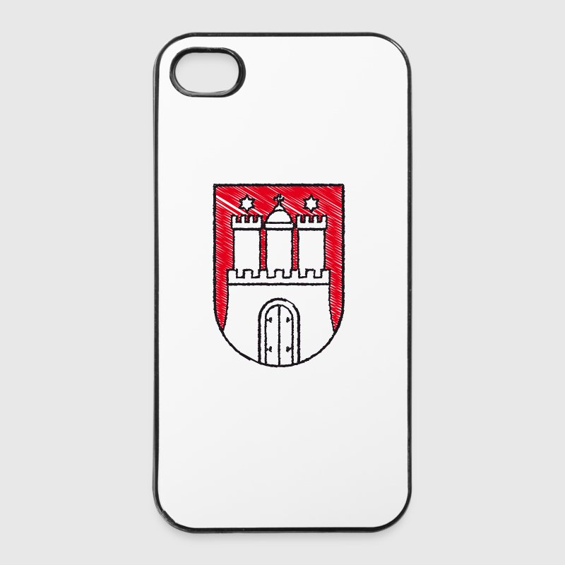 iPhone Case Hamburger Wappen - iPhone 4/4s Hard Case
