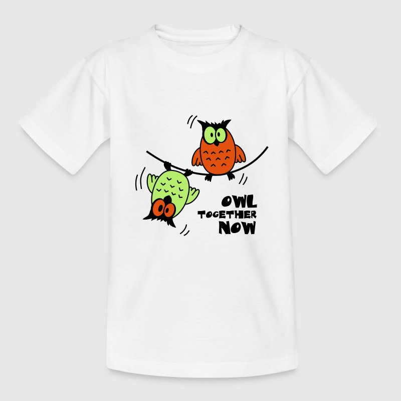 Sjove Ugler på Wire Owl Together Now | T - Børne-T-shirt