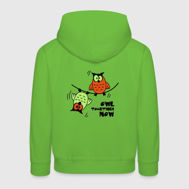 Lustige Eulen auf Drahtseil Owl together now | T Pullover & Hoodies - Kinder Premium Hoodie