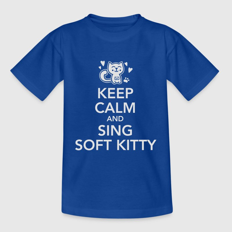 keep calm and sing soft kitty Skjorter - T-skjorte for tenåringer